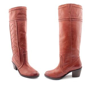 Fossil High Cross Stitch Leather Boots